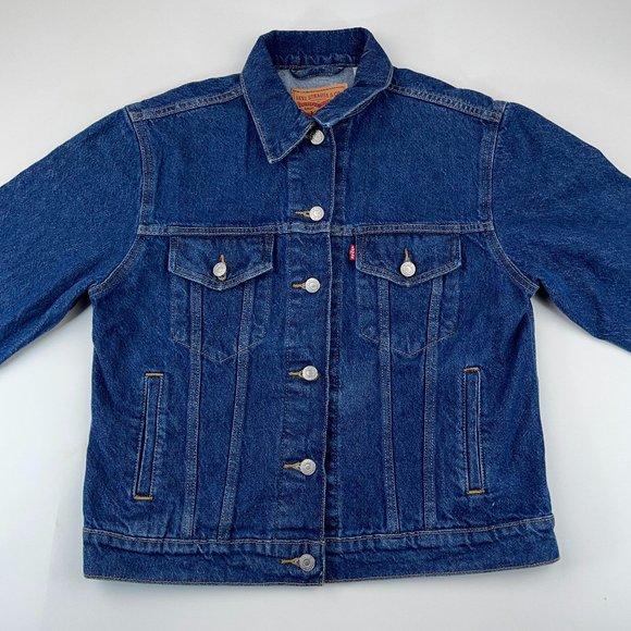 Levi's Denim Relaxed Fit Trucker Blue Jean Jacket